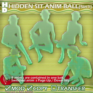 HD hidden sit anim ball