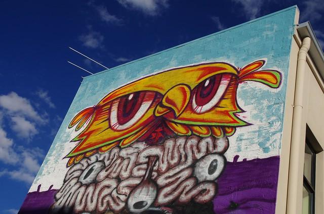 Adelaide totem pole street art