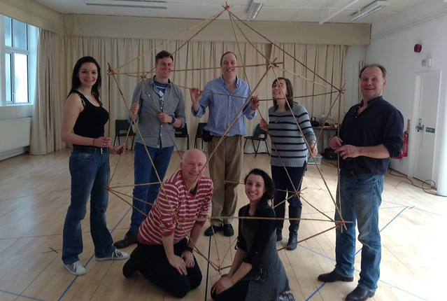 Marcus du Sautoy and cast in rehearsals for Marcus du Sautoy, an exploration of The Magic Flute © Marcus du Sautoy