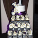 Purple:White calla lily cake and cupcakes