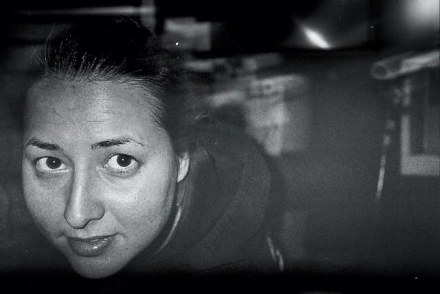 Portrait in the dark room