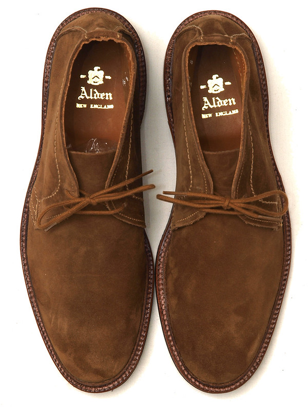 Alden / 1493 Unlined Chukka Boot Rust Suede