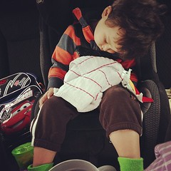 Nap in the car before his doctor's appointment #sicktoddler #poorkid