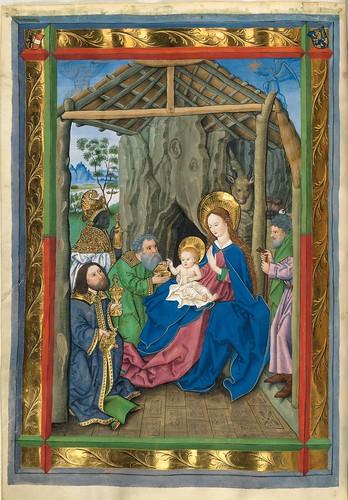 003-Adoracion de los Reyes-Misal de Salzburgo-1499-Tomo 1 -Biblioteca Estatal de Baviera (BSB)