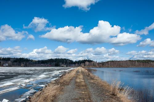 lake ice spring flood dam pato april järvi jää kevät tulva kytäjä huhtikuu 2013 kytäjärvi