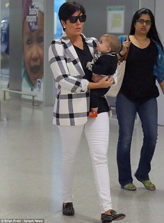 Kris Jenner White Trousers Celebrity Style Women's Fashion