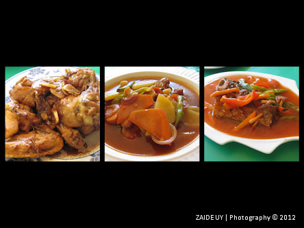 Lunch - Chicken Adobo, Vegetables, Sweet and Sour Fish