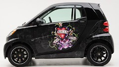ed hardy custom smart car edhardytattoocar