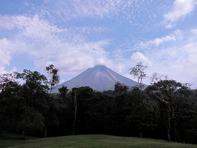 A clear view of the Volcán Arenal