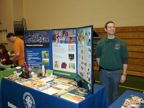 Image of Solid Waste Services staff at an outreach event.