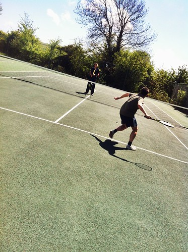 Alex playing tennis