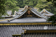 roof combination - Toshogu Shrine - Nikko