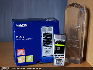 The European Podcast Award and the Olympus DM-3 Digital Voice Recorder prize !!!