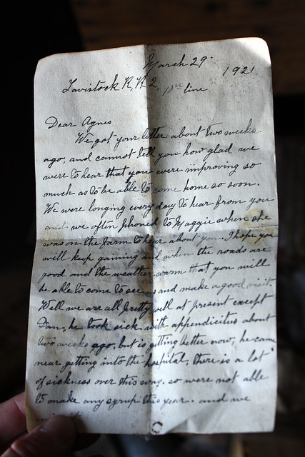 March 29, 1921 - Dear Agnes (Front)