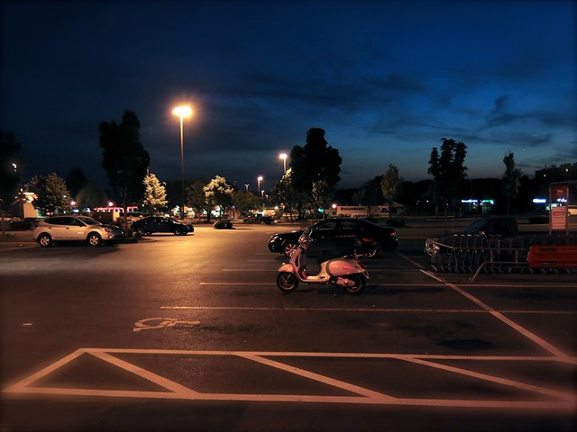parking lot vespa