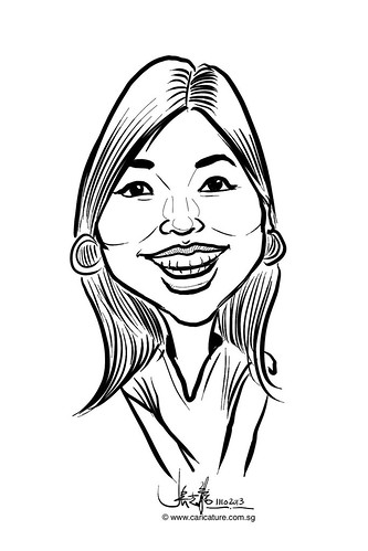 Digital live caricature for NTUC D&D 2013 - 3