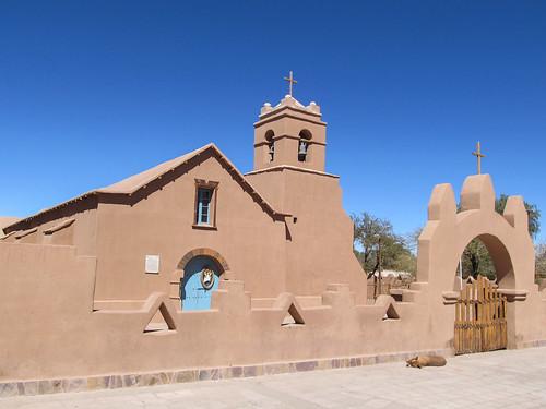 San Pedro de Atacama et son église en adobe