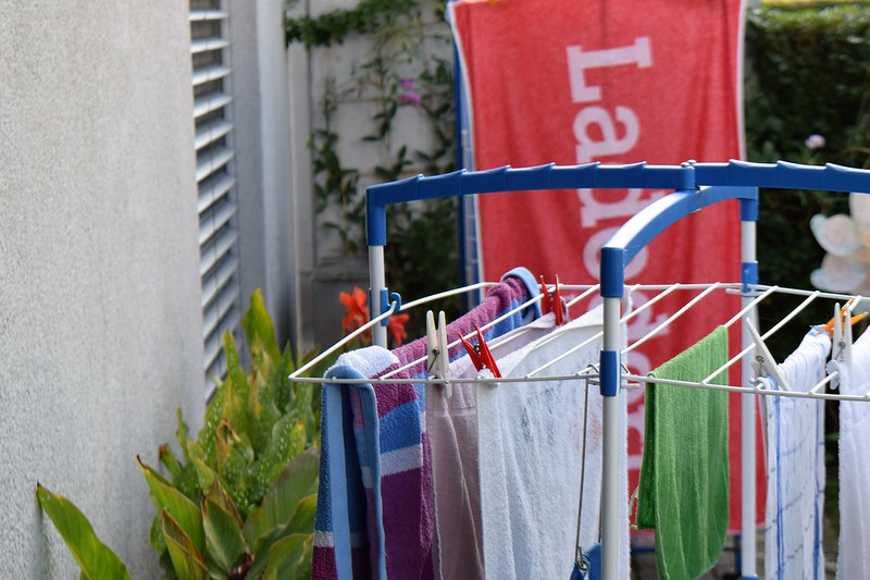Drying washing in the sun 14.09.2016
