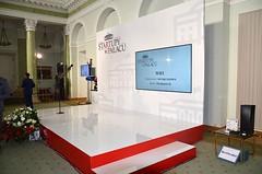 Scenografia konferencja w Pałacu Prezydenckim