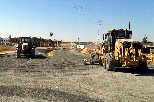 obras en la carretera de alcalá control del firme (1)