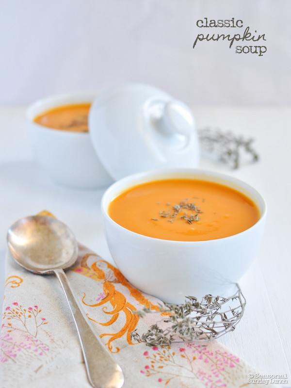 Pumpkin Soup - Autumn - Seasonal Sunday Lunch