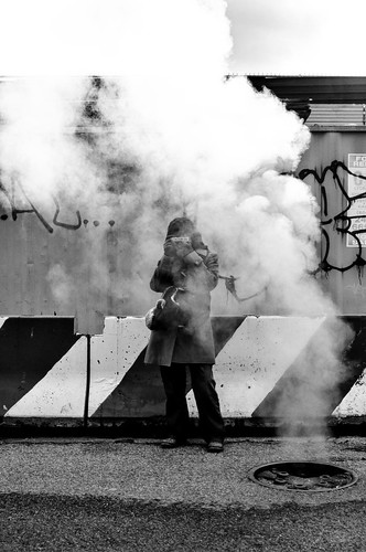 Renata in smoke 2 by ifotog, Queen of Manhattan Street Photography