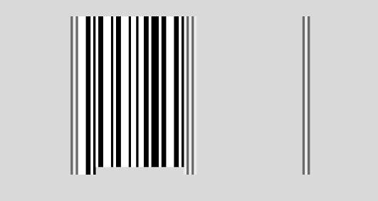 UPC bar code - the left section data bars fitted into the bar code framework