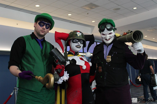 Riddler, Harley Quinn and the Joker by Pat Loika, on Flickr