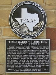Photo of Texas Garden Clubs, Inc. black plaque