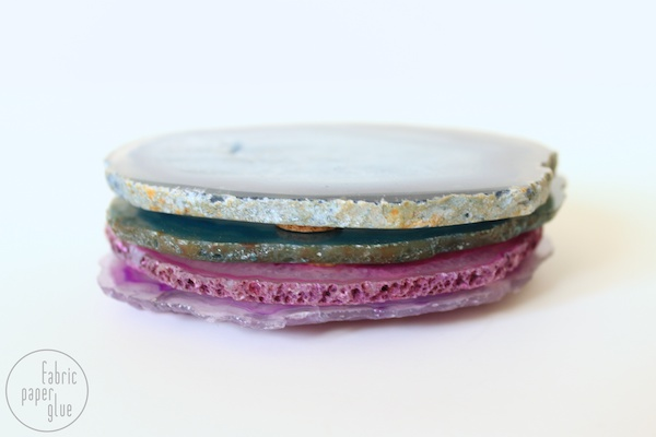 Semi-DIY Agate Coasters 3