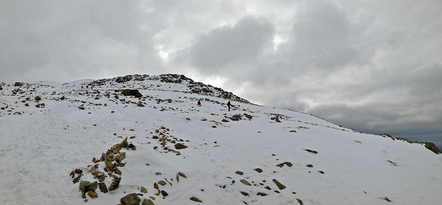 On the way up Scafell Pike