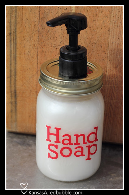 Hand soap pump jar