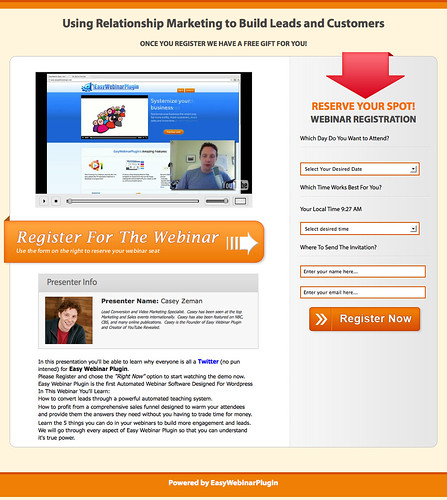 ケイシー・ジーマン(Casey Zeman)「How to Use Easy Webinar Plugin for Success」