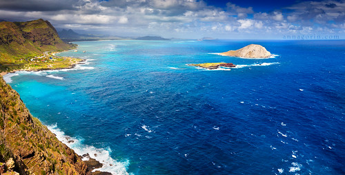 ocean sea sky panorama water clouds canon landscape island hawaii coast oahu sigma pacificocean 7d vista coastline makapuu makapuulighthouse 1750mm mananaisland kaohikaipuisland
