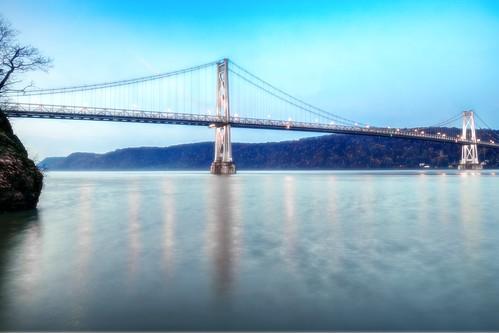 bridge ny newyork sunrise geotagged poughkeepsie hudsonriver hdr fdr mudpig midhudson stevekelley stevenkelley