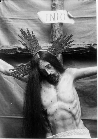 Cristo del Calvario en San Cipriano  © Fondo Rodríguez. Archivo Histórico Provincial. JCCM. Signatura CMC-295-1