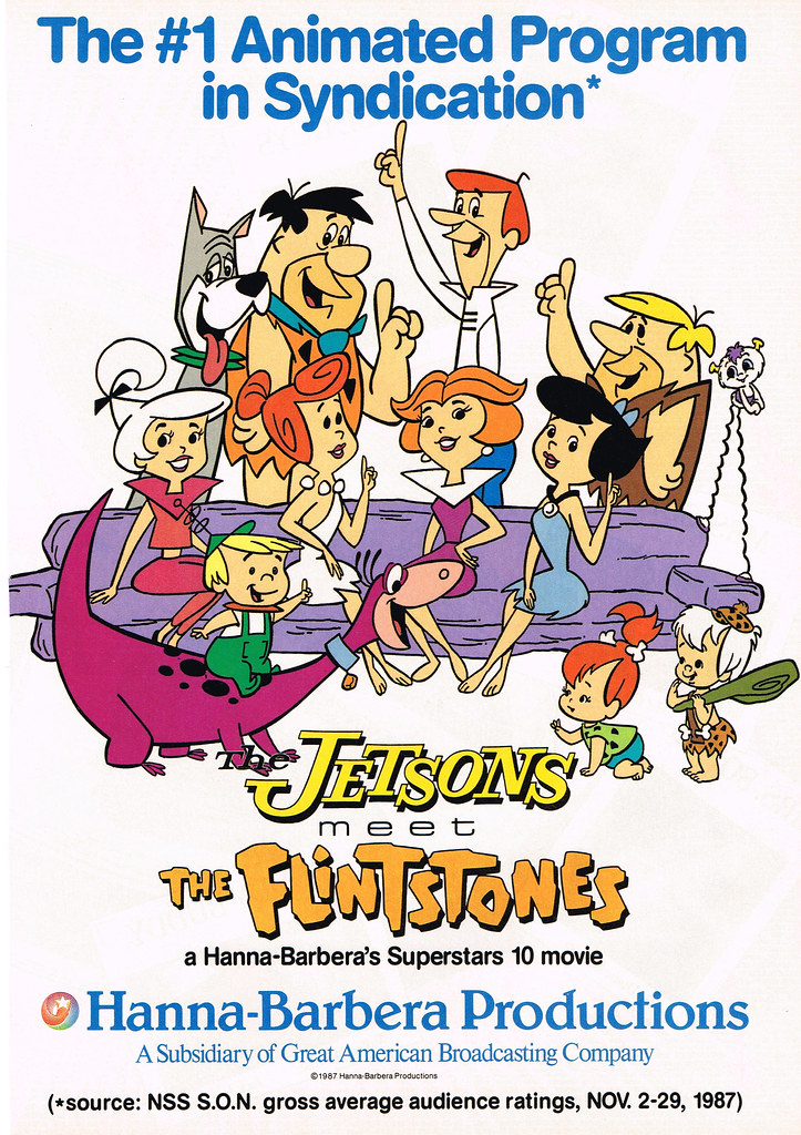 the flintstones meet the jetsons movie online The jetsons meet the flintstones is a 1987 animated crossover made-for-television film produced by hanna-barbera for syndication as jetsons: the movie (1990.