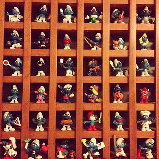 Day95 hung my Smurf shelf in my office 4.5.13 #jessie365