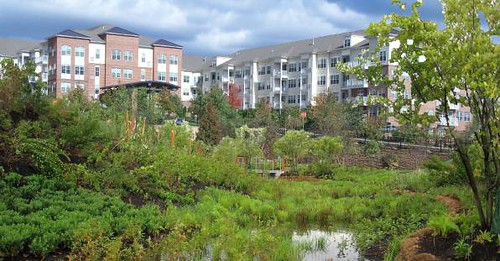 re-imagined urban development site (by: Raritan Borough, NJ, courtesy of Sustainable Raritan River)
