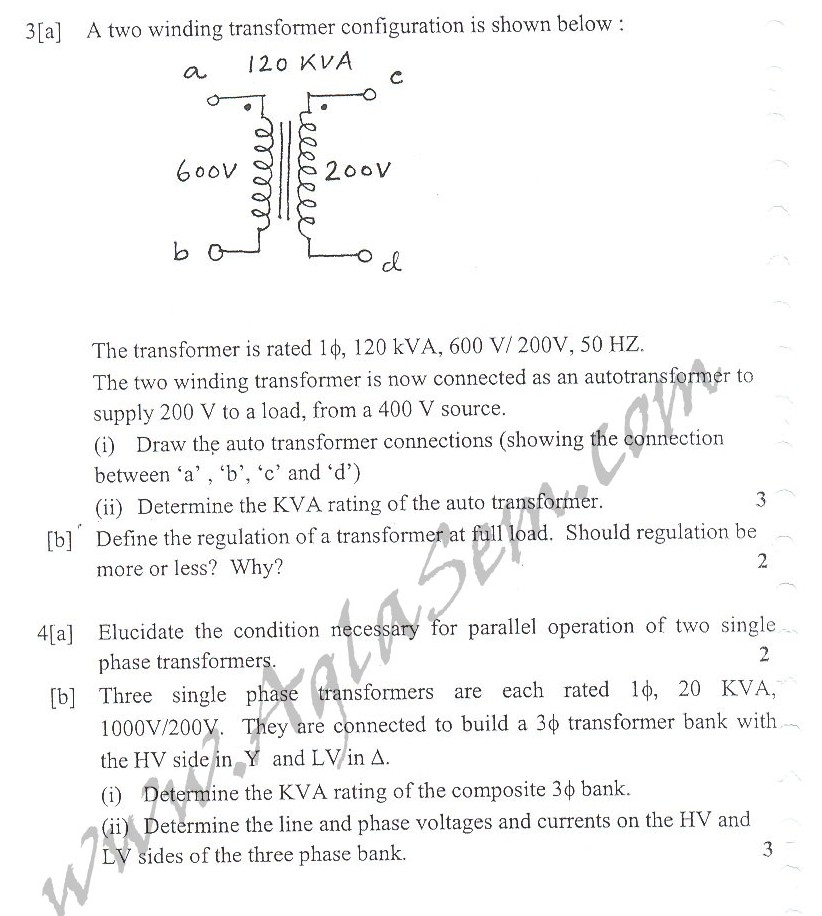 DTU Question Papers 2010 – 3 Semester - Mid Sem - EE-203