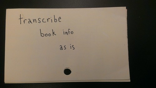 transcribe book info as is