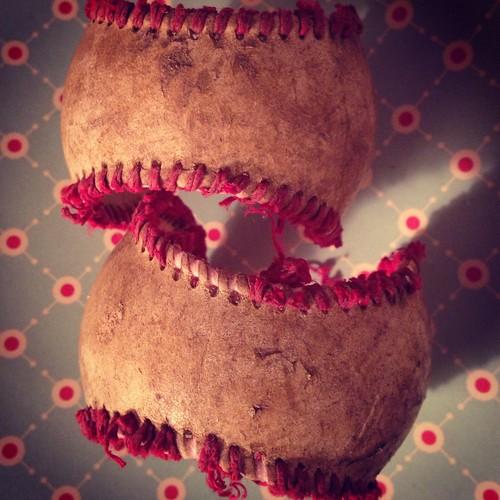 Vintage Unraveled Baseballs