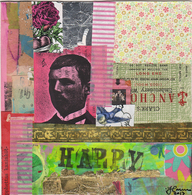 Collage: A Happy Man
