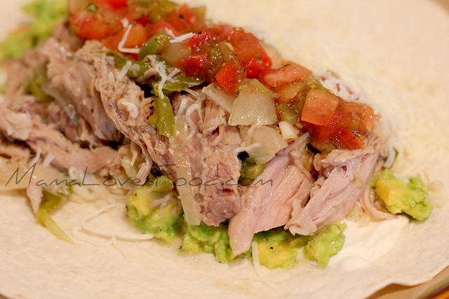Slow Cooker Mojo Pork for Chipotle Style Burritos