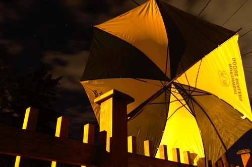 Umbrella at Night