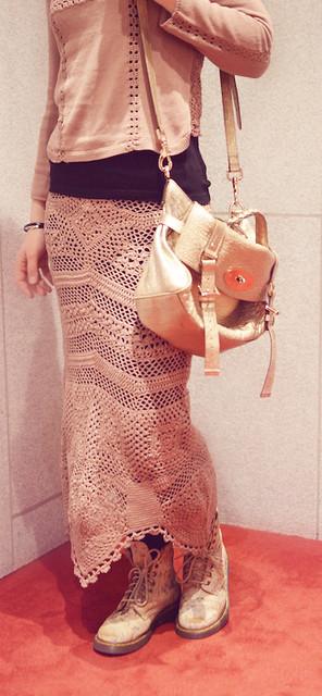 silky knit skirt