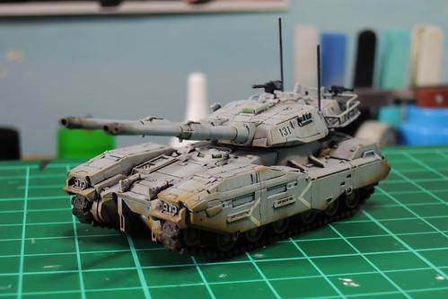 U.C. HARDGRAPH 1/144 - Type 61 A5 Main Battle Tank - WiP painted -