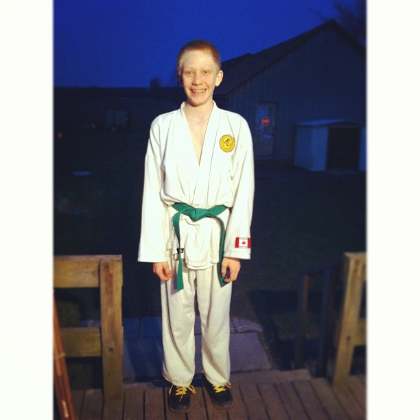 Guess who came home with green? :D #karate #sohappy #cmig365apr
