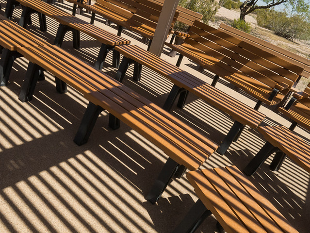 Stripes on Benches