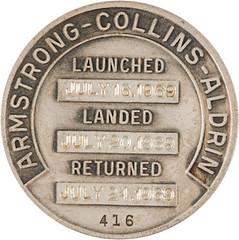 Lot 40078 Apollo 11 medallion reverse